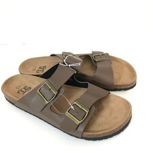 NWOT Unbranded SlipOn Brown Birk Sandals